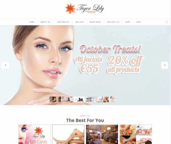 Tiger Lily eCommerce website